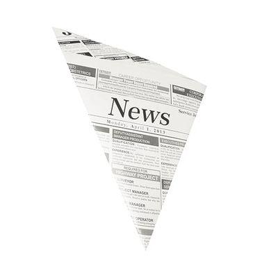 """Papstar 1000 Spitztüten, Pergament-Ersatz 32,5 cm x 23 cm x 23 cm """"Newsprint"""" Füllinhalt 250 g, fettdicht"""