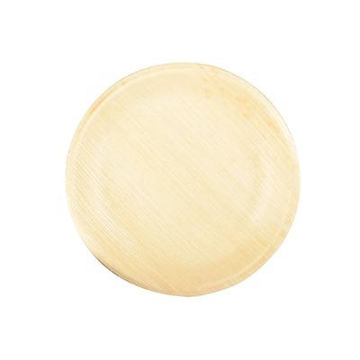 Papstar  Pure  Teller; rund; M; Palmblatt - 25 Stück