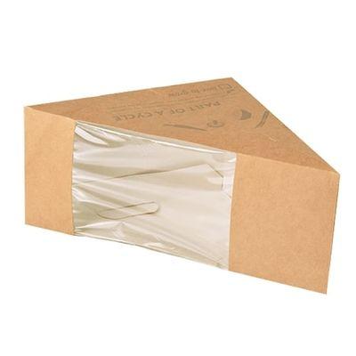 Boîte à sandwichs Papstar Pure avec fenêtre de visualisation - M ; carton - 50 pièces