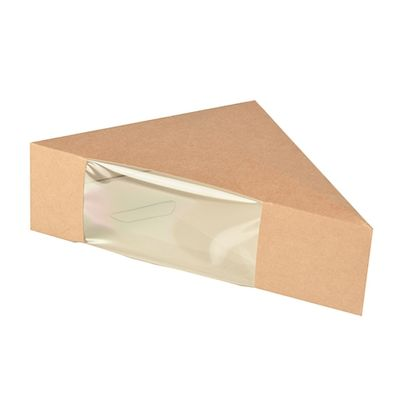 Boîte à sandwichs Papstar Pure avec fenêtre de visualisation - S ; carton - 50 pièces