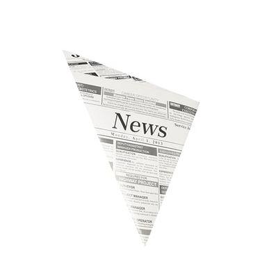 """Papstar 1000 Spitztüten, Pergament-Ersatz 27 cm x 19 cm x 19 cm """"Newsprint"""" Füllinhalt 125 g, fettdicht"""