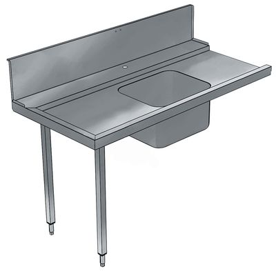 Table d'écoulement d'entrée Electrolux 1200 gauche avec évier