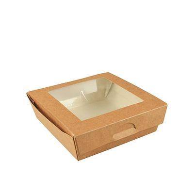 Boîte à sandwichs Papstar Pure avec fenêtre de visualisation ; angulaire ; carton - 25 pièces- 750 ml
