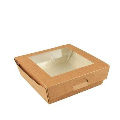 Boîte à sandwichs Papstar Pure avec fenêtre de visualisation ; angulaire ; carton - 25 pièces - 1000 ml