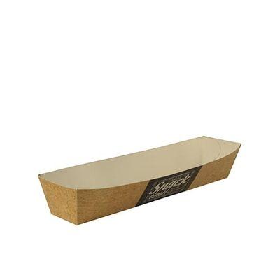 Plateaux de collation Papstar Pure - «Good Food» ; carton ; 3,5 cmx3,3 cmx18,5 cm - 50 pièces