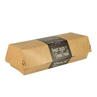 Boîtes à baguettes Papstar Pure - «Good Food» ; carton - 6,2 cm x 7,5 cm x 21 cm