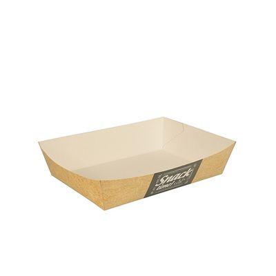 Plateaux de collation Papstar Pure - larges - «Good Food» ; carton - 50 pièces