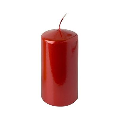 Bougie Papstar «Xmas-Metallic», Ø 60 x H : 130 mm, métallisé rouge