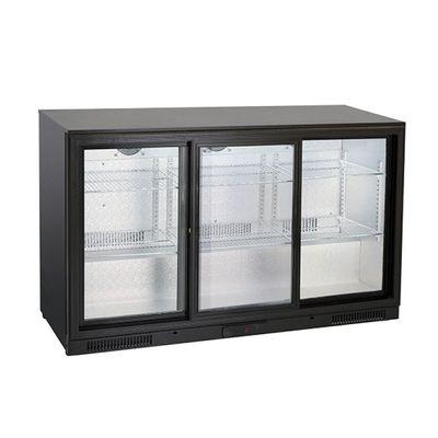Gastro-Inox Barkühlschrank 320 Liter mit Schiebetüren schwarz