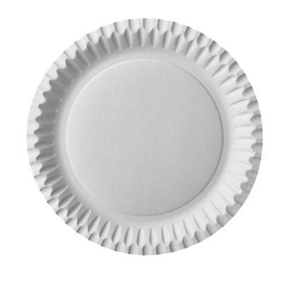 100 assiettes Papstar, carton, rondes, Ø 23 cm, blanches