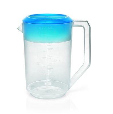 Ausgießer / Messbecher aus PP 1,8 Liter - mit farbigem Deckel