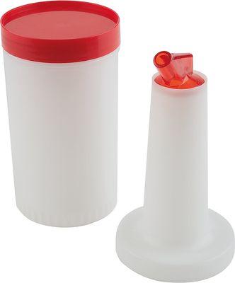 Flacon de dosage APS, rouge, Ø 9 cm, hauteur : 33 cm, 1 l