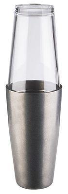 APS Boston Shaker 2teilig - Edelstahl Silber Vintage