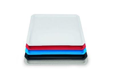 Plat empilable système en polyester - 46x34,4cm - bleu
