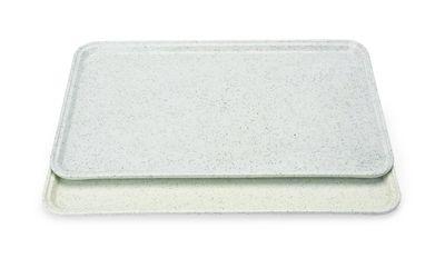 Tablett Polyester, 45,5x35,5cm - hellgrau mit kl.Punkten