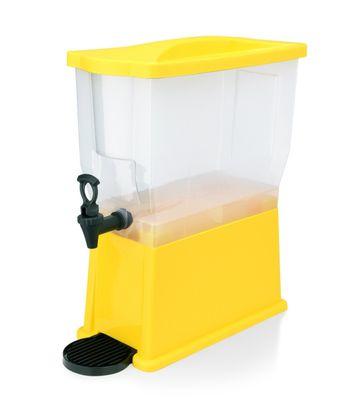Distributeur de jus - 14 litres - jaune - polypropylène