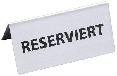 Chevalet de table RÉSERVÉ, largeur 12 cm, hauteur 5,5 cm