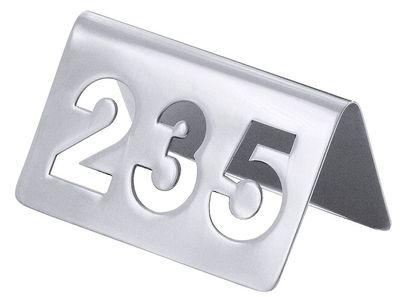 Plaque de numéro de table avec chiffres découpés jusqu'à 250