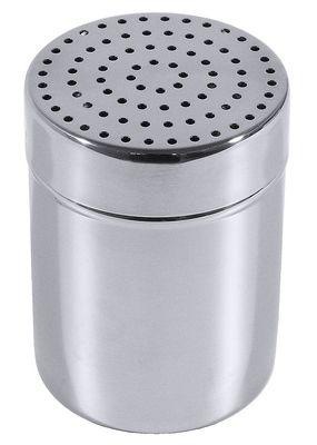Boîte saupoudreuse à épices, trous de 2mm, en inox 18/10, 0,15l, hauteur 9,5cm