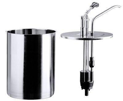 Distributeur doseur rond 4 litres avec récipient