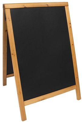 Doppeltafel  85 cm, teakfarben, Fläche: 47,5 cm x 67 cm