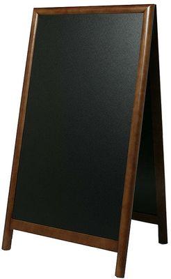 Doppeltafel 125 cm, dunkelbraun, Fläche: 58 cm x 100 cm