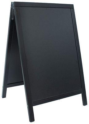 Doppeltafel 85 cm, schwarz, Fläche: 47 cm x 67 cm