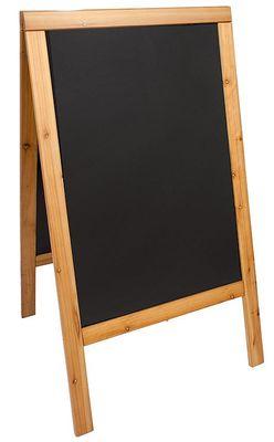 Doppeltafel 120 cm, teakfarben,  Fläche: 58 cm x 88 cm