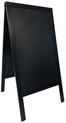 Doppeltafel 120 cm, schwarz,  Fläche: 58 cm x 88 cm