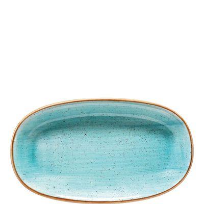 Bonna Premium Porcelain Aura Aqua Gourmet Platte oval 24 x 14 cm, hellblau