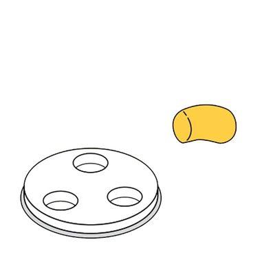 Disque de forme pour pâtes Gnocchi 50