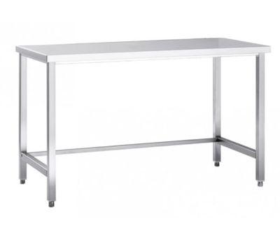 Table de travail en inox Eco 8x7 sans étagère basse