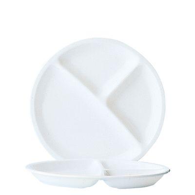 Assiette de menu Arcoroc Restaurant Uni, 3 compartiments 25,5cm
