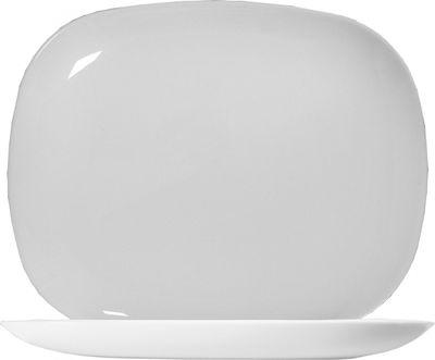 Arcoroc Solutions White Burgerplatte rechteckig 28 x 23 cm, weiß