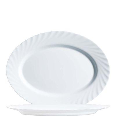 Arcoroc Platte ovale, Arcoroc Trianon Uni blanc, 35cm