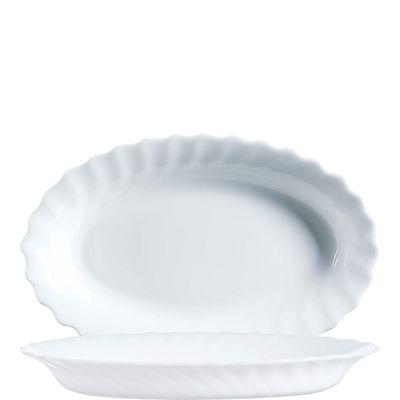 Bol ovale Arcoroc Trianon Uni blanc, 22cm