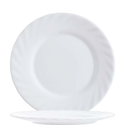 Assiette plate Arcoroc Trianon blanc uni 15,5 cm