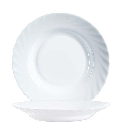 Arcoroc Trianon plaque profonde Uni blanc 22,5cm