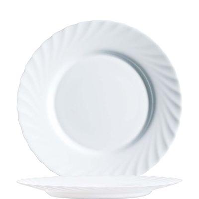 Arcoroc Trianon assiette plate blanche 24,5cm