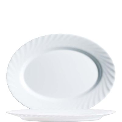 Arcoroc Platte ovale, Arcoroc Trianon Uni Blanc, 29cm