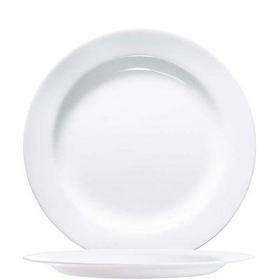 Assiette plate blanche Arcoroc Evolution Uni, 27cm