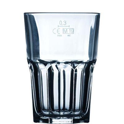 Verre à long drink empilable 31cl avec repère de remplissage à 0,3l Arcoroc Granity FH35