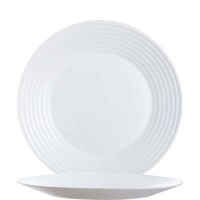 Assiette blanche plate Arcoroc Stairo Uni 27cm