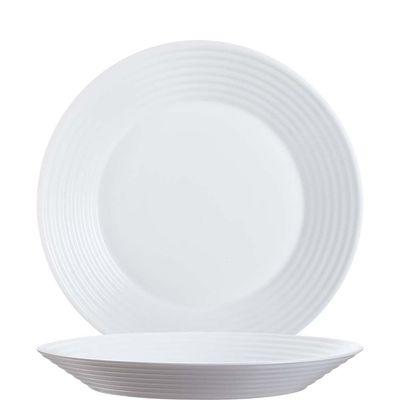 Assiette blanche creuse Arcoroc Stairo Uni 23,5 cm