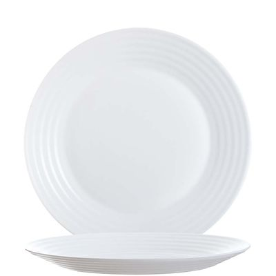 Arcoroc Stairo Uni assiette à dessert blanche plate 19 cm