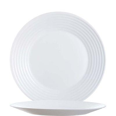 Assiette blanche plate Arcoroc Stairo Uni 23,5cm