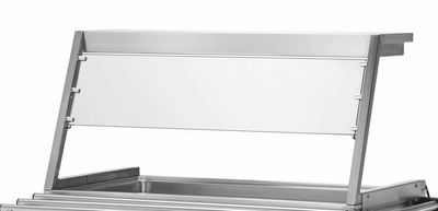Aufsatz mit Beleuchtung und Hustenschutz für Bain-Marie Wagen PROFI 2x GN 1/1