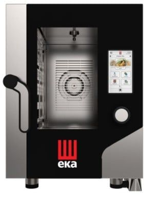 Tecnoeka KOMPAKTER Kombi-Ofen  6 x GN 2/3 mit Dampfgarer und Touchscreen