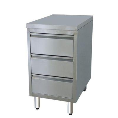 Armoire à tiroirs en inox BASIC, 3 unités 600
