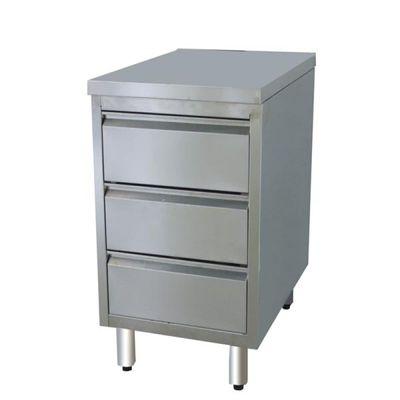 Armoire à tiroirs en inox BASIC, 3 unités 700